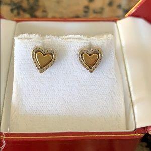 Brighton two tone heart earrings